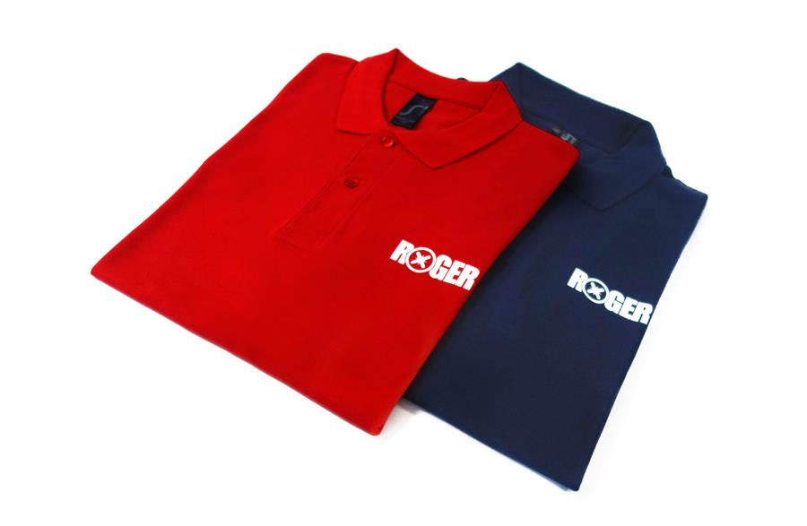 Polo Roger Rood Blauw